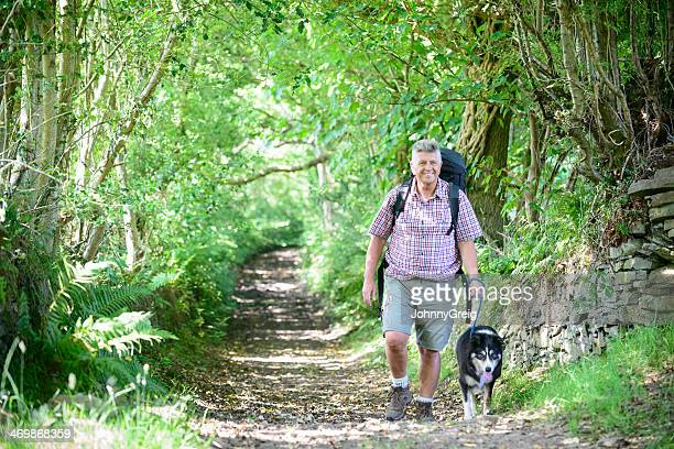 Man and dog in the countryside