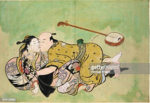 A man and geisha ca 1714 Found in the Collection of British Museum