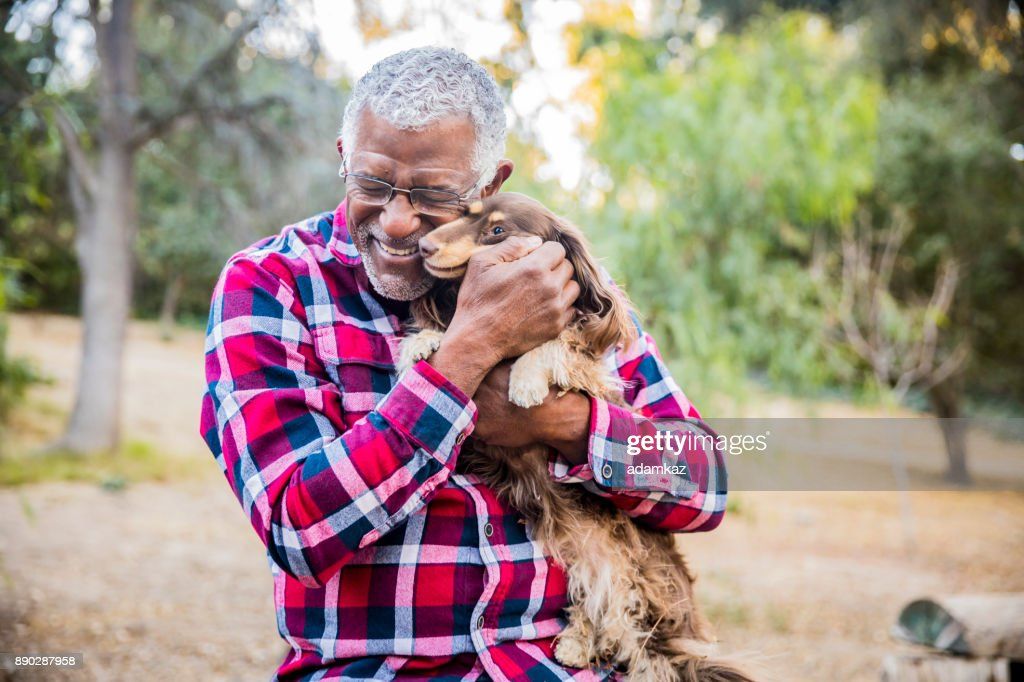 Man and his best friend : Stock Photo