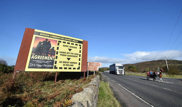GBR: Anti-Brexit Billboards Appear At The Irish Border
