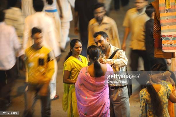 Man and prostitutes in kamathipura, Bombay Mumbai, Maharashtra, India