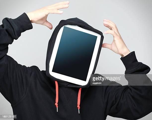 Mann und Tablet-PCs