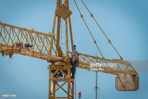 Man and Tower Crane