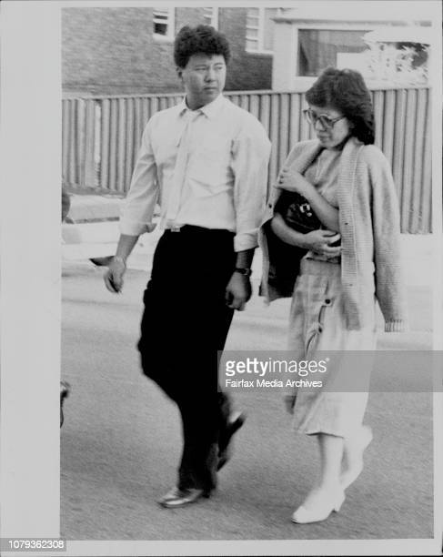A man and Woman arriving at Prince of Wales Hospital Believed to be relatives of the Wong familyA car driven to Prince of Wales hospital by the...
