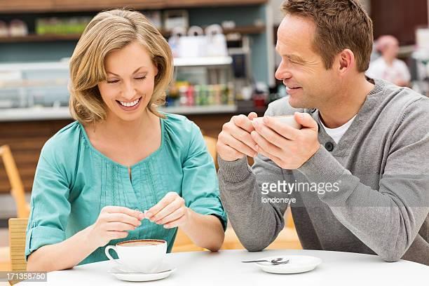 Man And Woman At Cafe