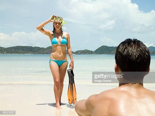 Homme et Femme à la plage