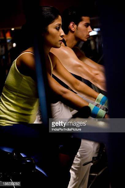 Man and woman at the gym