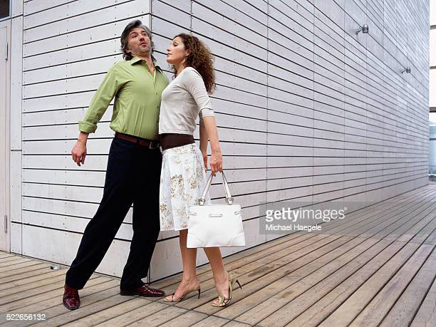 Man and Woman Bumping into Each Other