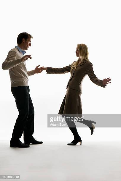 A man and woman dancing