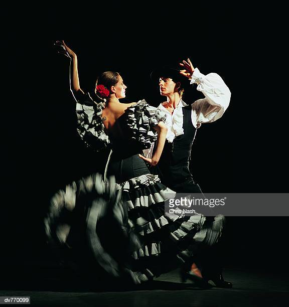 Man and Woman Dancing the Flamenco