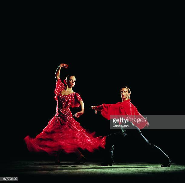 Man and Woman Dancing the Flamenco