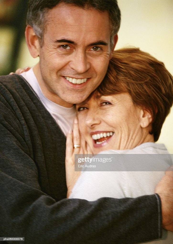 Man and woman hugging, close up, portrait. : Stock Photo