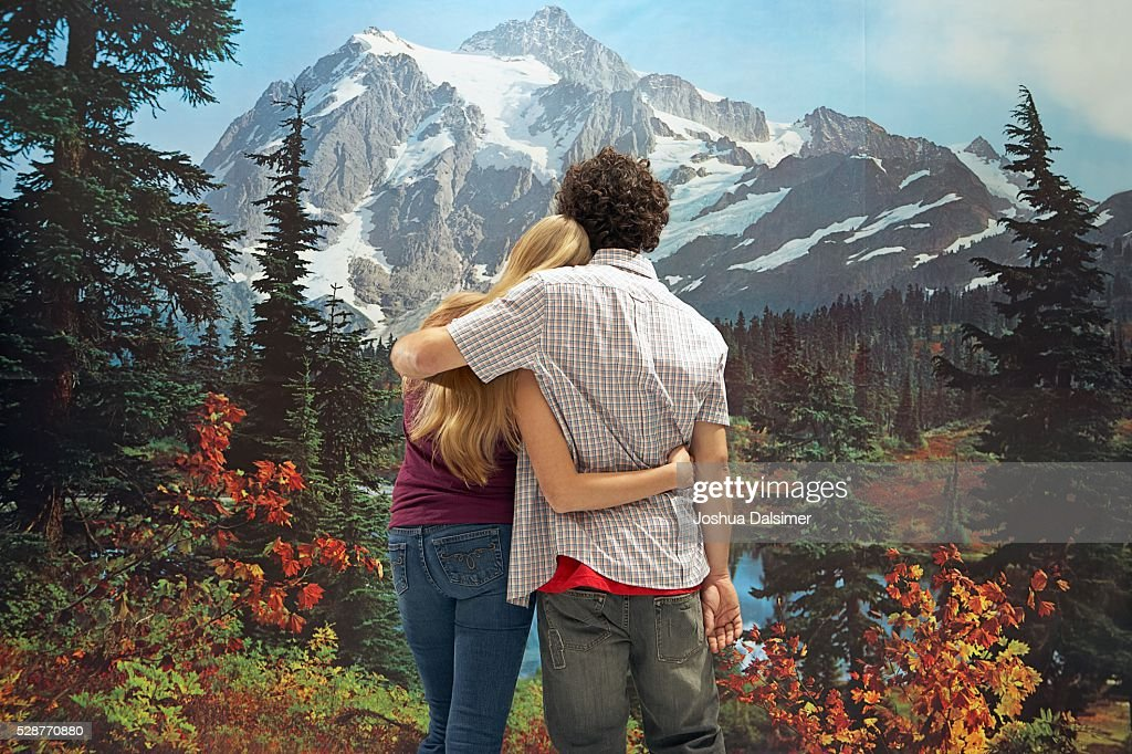 Man and woman hugging : Stock Photo
