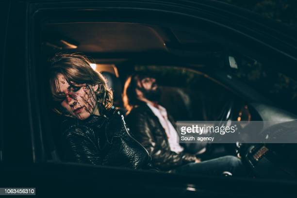 man and woman in a car accident - of dead people in car accidents stock pictures, royalty-free photos & images
