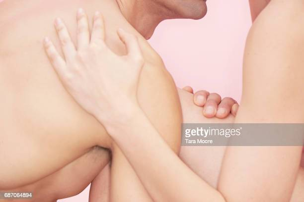 man and woman in embrace
