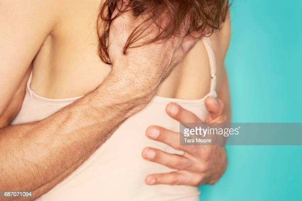 man and woman in embrace - sex and reproduction stock photos and pictures