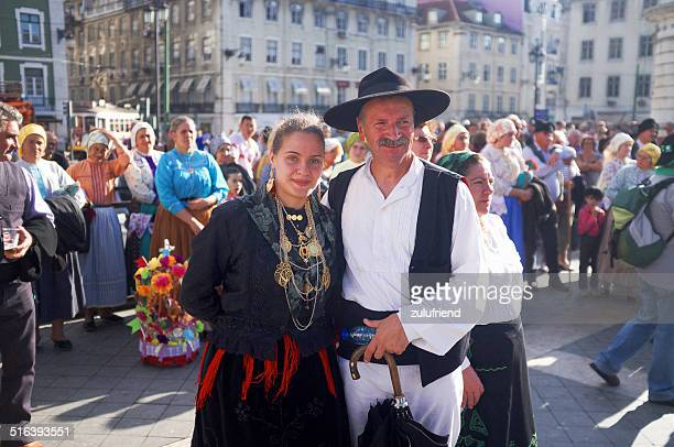Man and Woman in Folklore Costumes