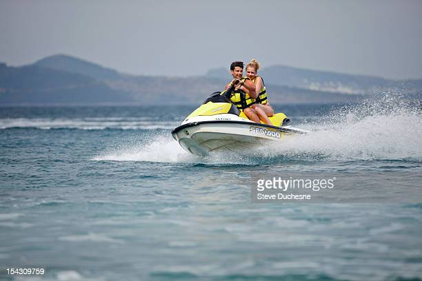 Man and woman in jet ski