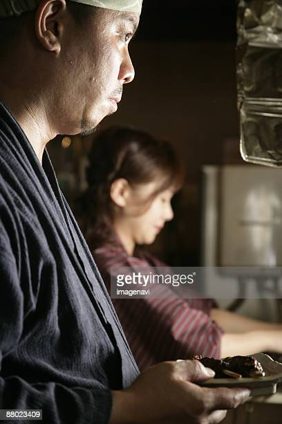 Man and Woman in the kitchen
