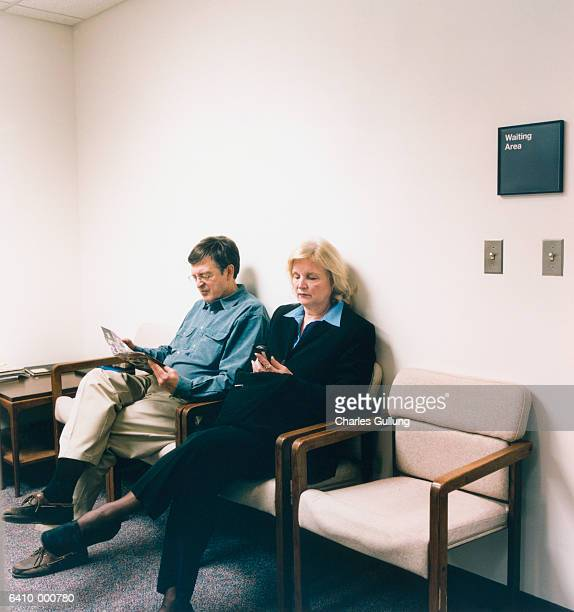 Man and Woman in Waiting Room