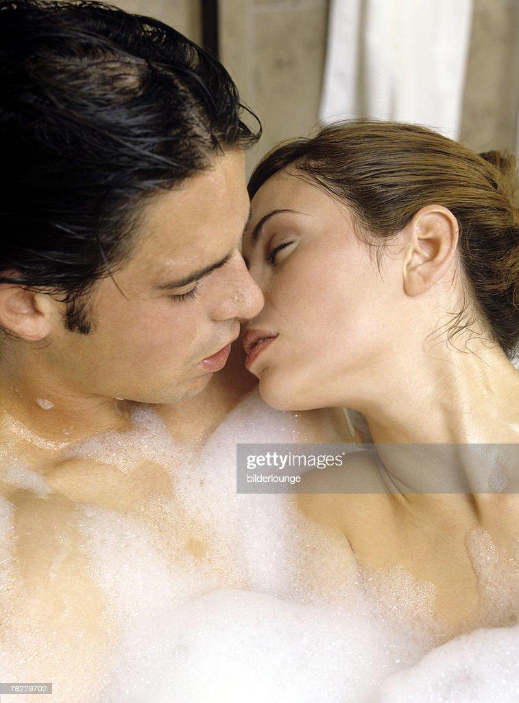 Man woman in bath