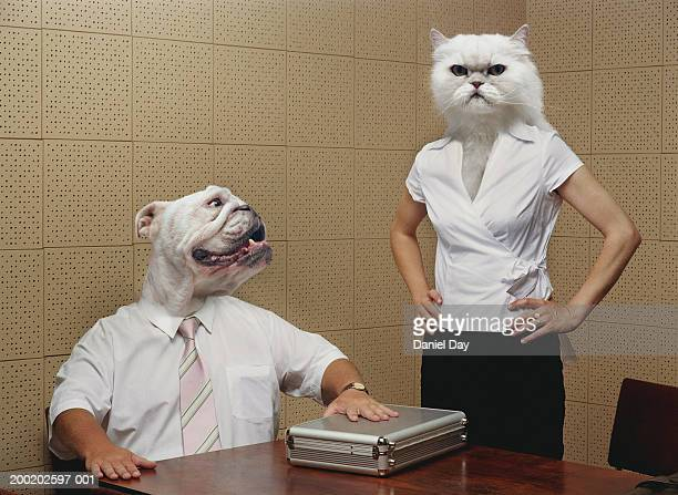 Man and woman metamorphasised as cat and dog (Digital Composite)