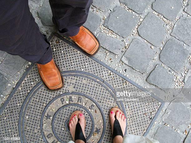 Man and woman paris