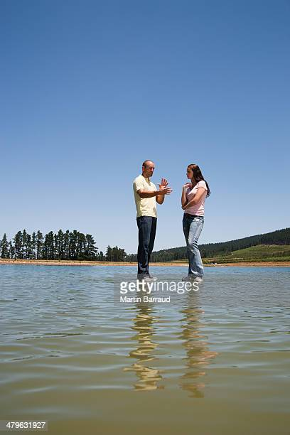 man and woman standing  - beautiful wife pics stock pictures, royalty-free photos & images