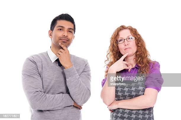 homem e mulher em pé juntos. tomar uma decisão - parte do corpo humano imagens e fotografias de stock
