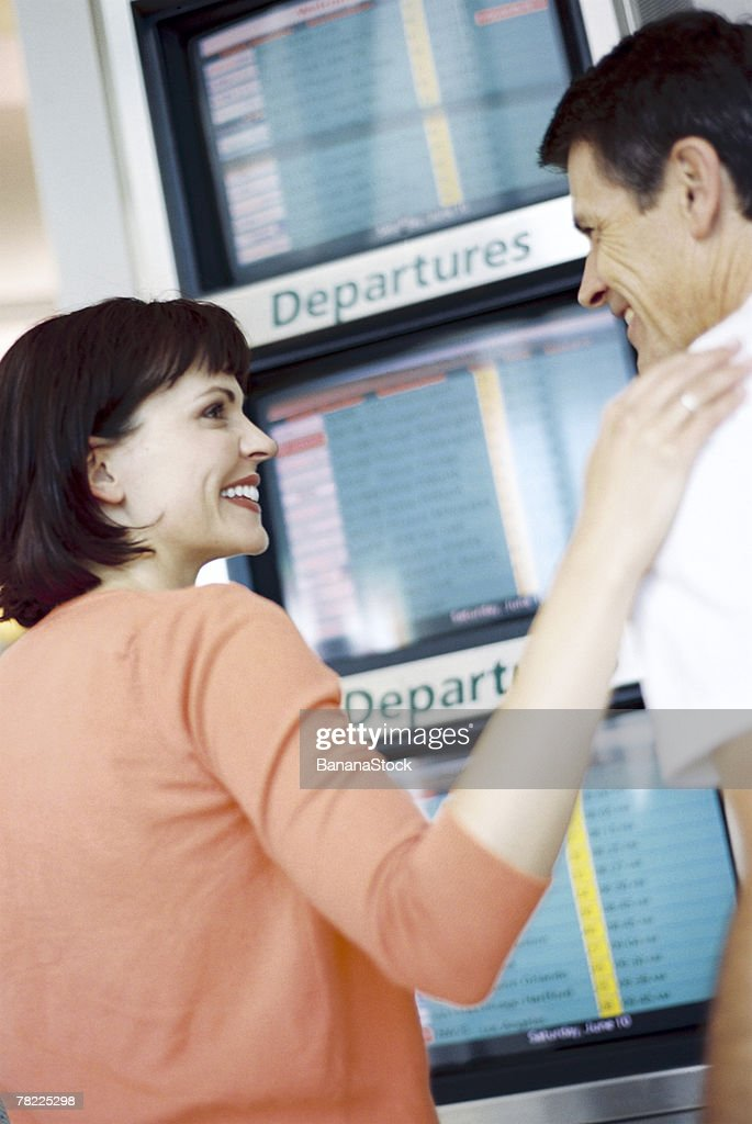 Man and woman traveling : Stock Photo