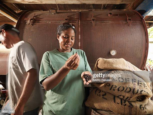 Man And Woman With Coffee Beans