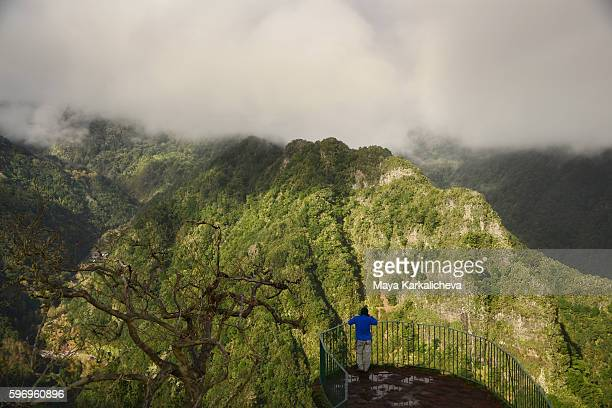 Man appreciating the nature in Madeira