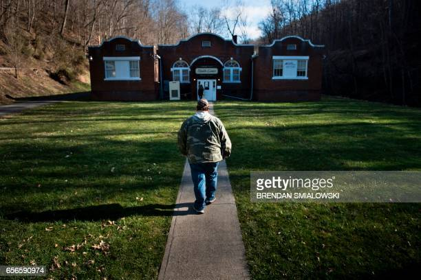 A man arrives at the Community Health Center of NE Wetzel County March 22 2017 in Burton West Virginia The Republicancontrolled House of...