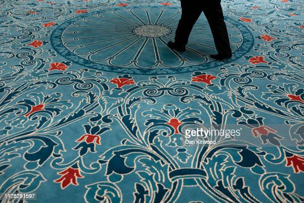 A man arrives to pray at the Suleymaniye Mosque in East London on March 1 2019 in London England This weekend is Visit My Mosque 2019 where the...