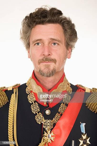 man as king ludwig of bavaria looking away - royal person ストックフォトと画像