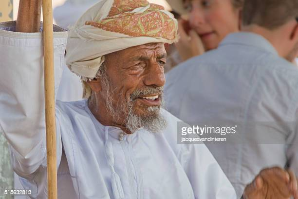 Man at a cattle market in the Middle East
