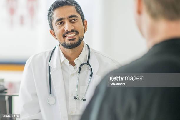 Man at a Check Up