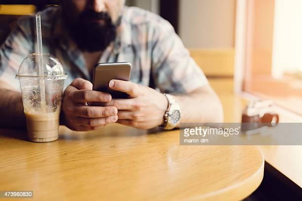 Man at a coffee break