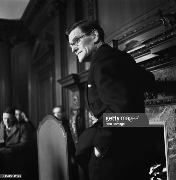 A man at a meeting during a visit by Australian Prime Minister Robert Menzies to London England in World War II March 1941