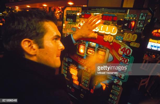 Man at a Slot Machine