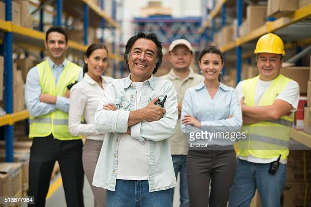 Man at a warehouse