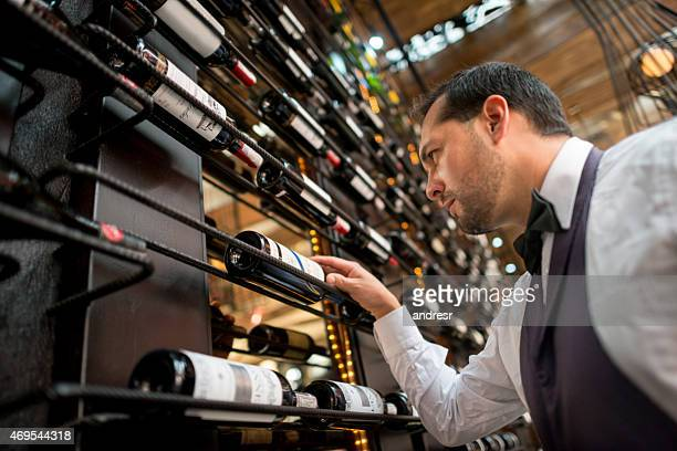Man at a wine cellar