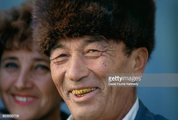 Man at an event in Tashkent Uzbekistan November 14 1997 Mrs Clinton is on a trip visiting former Soviet Republics Photo by David Hume Kennerly