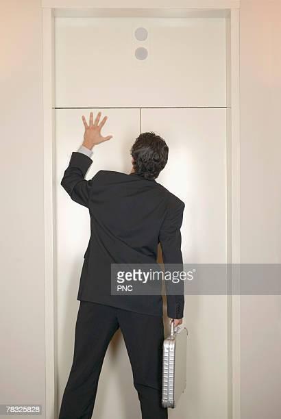 Man at elevator