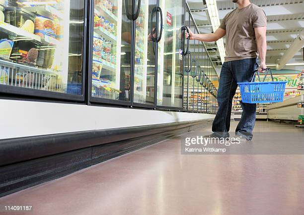 Man at grocery store.