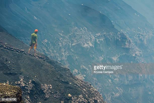 Man at Masaya Volcano