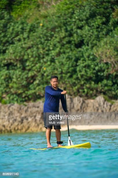 Man at Okinawa beach