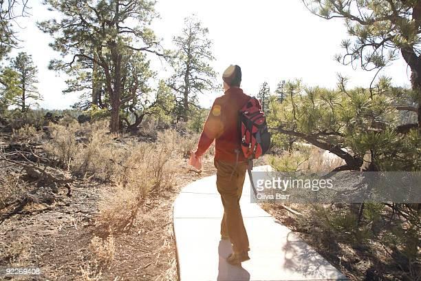 Man at Sunset Crater National Park