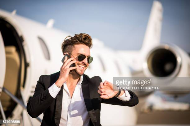 man wearing elegant clothes sunglasses standing