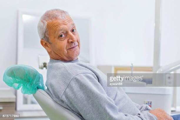 Man at the dentist